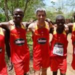 My Tanzanian team-mates for Kilimanjaro half-marathon 2013